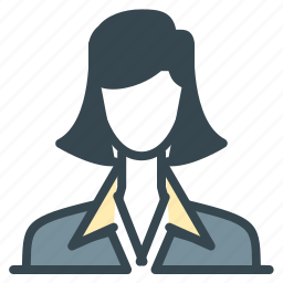 avatar, business, girl, person, profile, woman icon