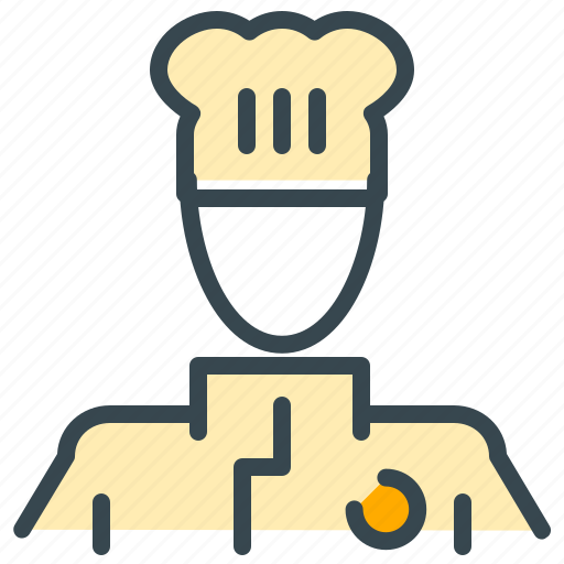 avatar, chef, man, person, profession, profile icon