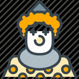 avatar, circus, clown, humor, person, profile icon