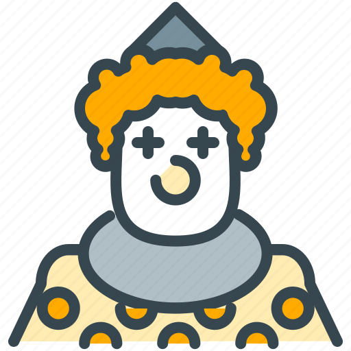 avatar, circus, clown, humor, person, profile icon