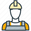 avatar, construction, man, person, profile, worker icon