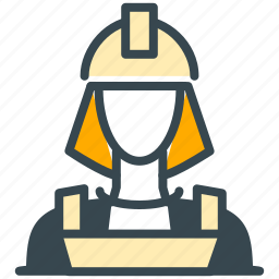 avatar, construction, person, profile, woman, worker icon
