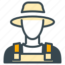 avatar, farmer, hat, man, person, profile icon