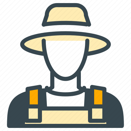 avatar, farmer, hat, man, person, profile icon