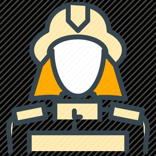 avatar, fighter, fire, fireman, man, person, profile icon