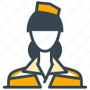 attendant, avatar, flight, person, profession, profile icon