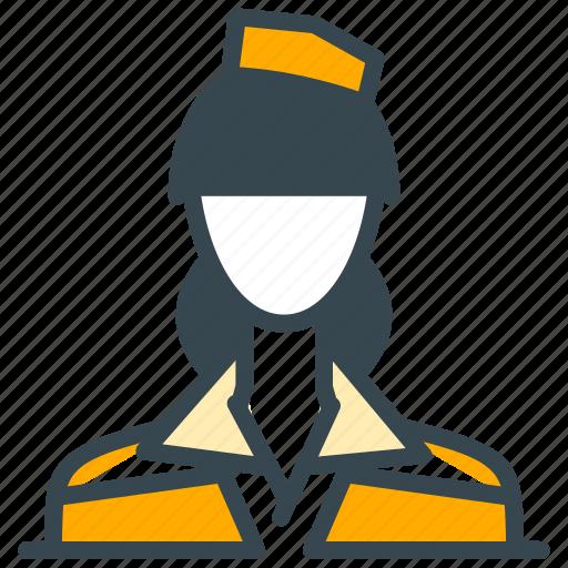 attendant, avatar, flight, person, profession, profile icon