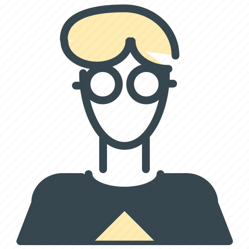 avatar, geek, glasses, nerd, person, profile icon