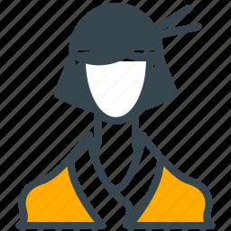 asian, avatar, geisha, person, profile, woman icon
