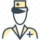 avatar, man, medical, nurse, person, profile, woman icon