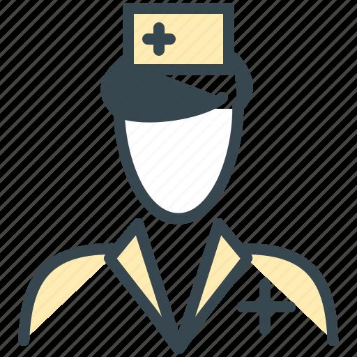 avatar, man, medical, nurse, person, profile, woman icon