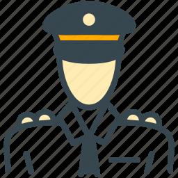 avatar, hat, man, person, pilot, profile icon