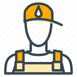 avatar, hat, person, plumber, profession, profile icon
