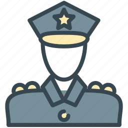avatar, officer, person, police, profile icon