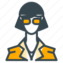 avatar, glasses, person, profession, profile, secretary icon