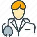 avatar, doctor, man, medical, person, profile icon