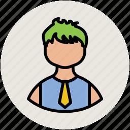 avatar, boy, gentleman, guy, man, person, student icon