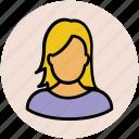 avatar, fashionable girl, female, lady, madam, woman, woman face icon