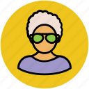 beautician, female, girl with glasses, housewife, madam, woman icon