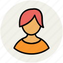 avatar, girl, girl face, profile, teenage, user, woman icon