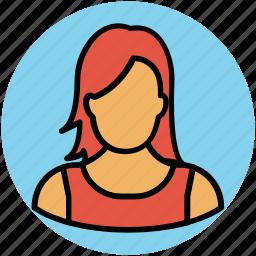 avatar, female, lady, madam, user, woman icon