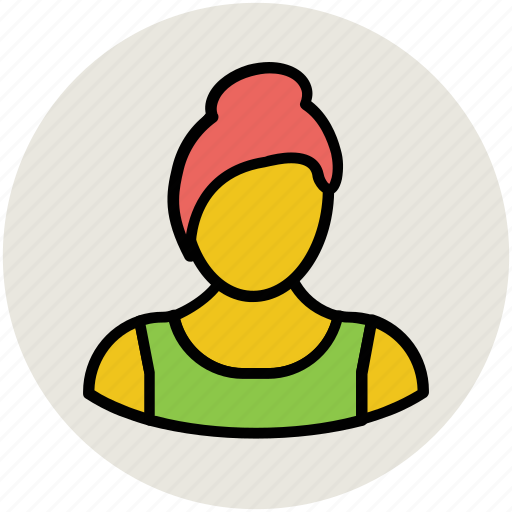 avatar, blonde girl, female, madam, profile, user, woman icon