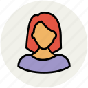 avatar, female woman, lady, madam, user icon