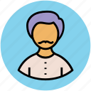 boy with moustache, male, man, person, profile, user icon