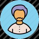 boy with moustache, male, man, person, profile, user icon