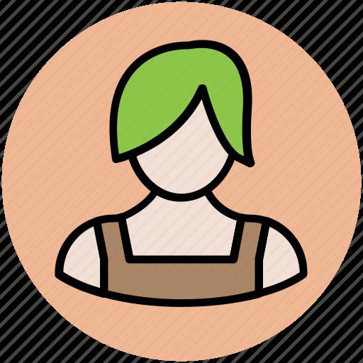 avatar, blonde girl, female, profile, user, woman icon