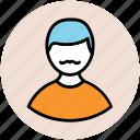 avatar, gentleman, male, man, man face, user icon