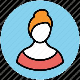 blonde lady, female, girl, lady, lady face, madam, user, woman icon