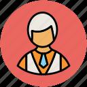 blonde boy, boy, boy with necktie, guy, man, student, user icon