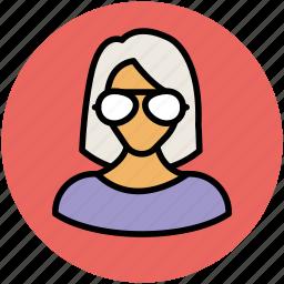 avatar, female, professor, teacher, user, woman icon