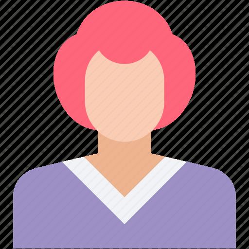 anchor, girl avatar, miss, receptionist, woman icon