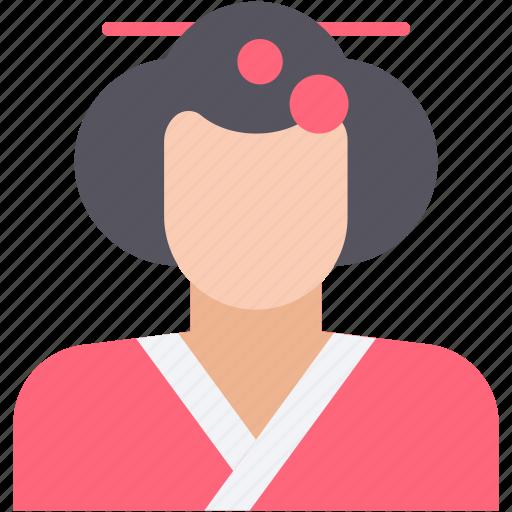 chinese, geisha, japanese, japanese geisha, oriental icon