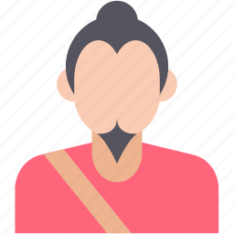 chinese face, japanese, japanese man, oriental, people icon