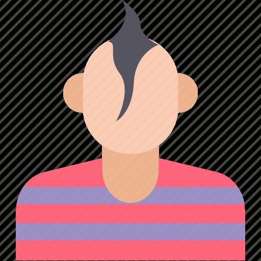avatar, black man, short hair, spikes man, spiky hair icon