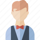 avatar, boy, person, waiter icon