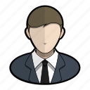 avatar, business, man, official, profile, suit, user icon