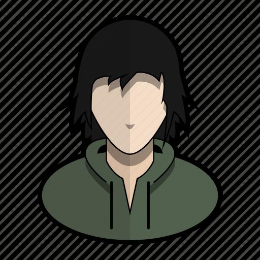 avatar, boy, girl, hoodie, messy, profile, user icon