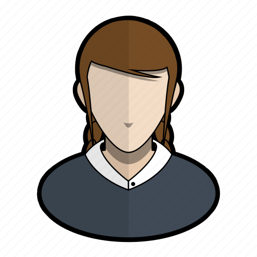 avatar, clothes, girl, official, profile, user, woman icon