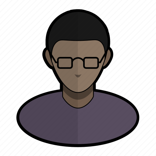 avatar, glasses, nerd, profile, read, user icon