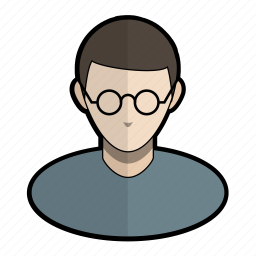 avatar, glasses, harry, nerd, potter, profile, user icon