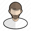 avatar, beard, boy, man, profile, user icon