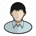 avatar, boy, man, messy, profile, shirt, user icon