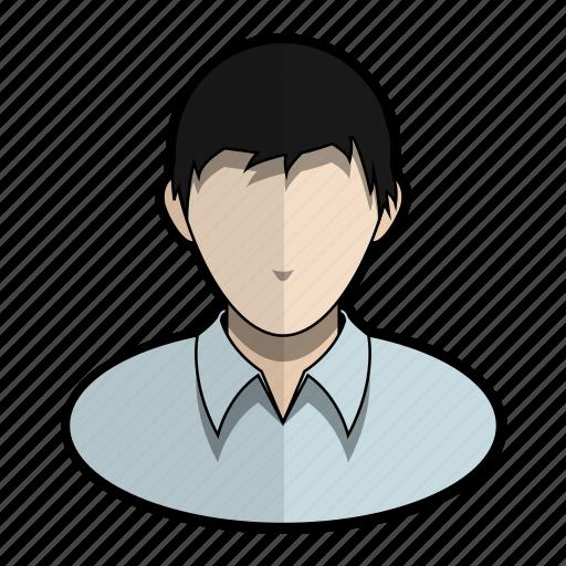 avatar, boy, man, messy, profile, shirt, user icon