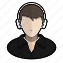 avatar, cool, headphones, music, profile, shirt, user icon
