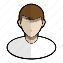 avatar, boy, hair, man, profile, shirt, user icon