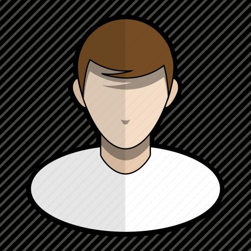 avatar, boy, hair, man, profile, shirt, user icon